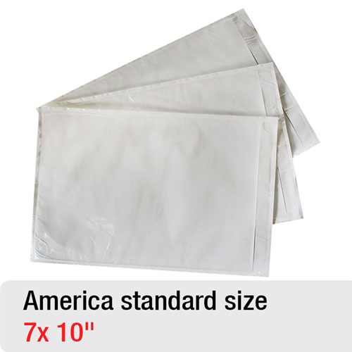 Packing List Enclosed Envelope For North America Standard Sizes